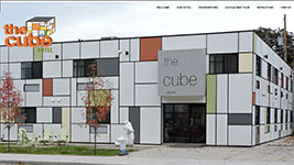 The Cube Hotel in Revelstoke, offering the privacy of a hotel and the social atmosphere of a hostel.