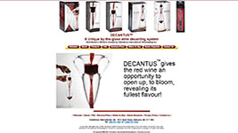 Decantus - wine aerating decanters.