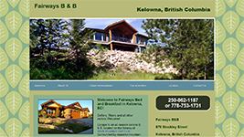Fairways Bed and Breakfast in the Black Mountain area of Kelowna