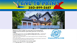 I Live to Paint is your go-to business for all your Kelowna and Okanagan Valley painting needs.