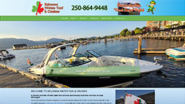 Kelownaès only official Water Taxi Service also offering great cruises on Lake Okanagan