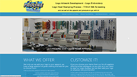 Proline Embroidery supplies clothing, hats, and accessories from a variety of brand names