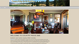 Country Ridge Bed & Breakfast, Oyama, Lake Country, BC.